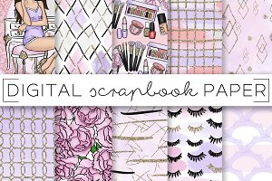 Makeup Girl Digital Paper