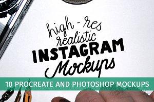 Realistic Instagram Mockups