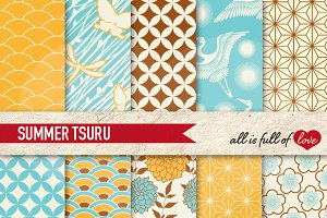Hot Summer Background Patterns