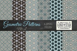 Blue Stars Geometric Pattern Set