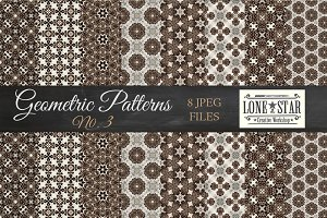 Brown Floral Geometric Patterns