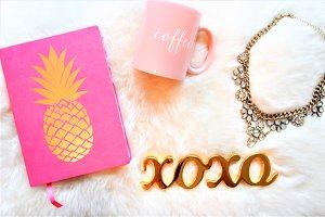 Pink Glam + Pineapple