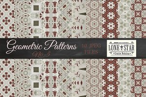 Christmas Plaid Geometric Patterns