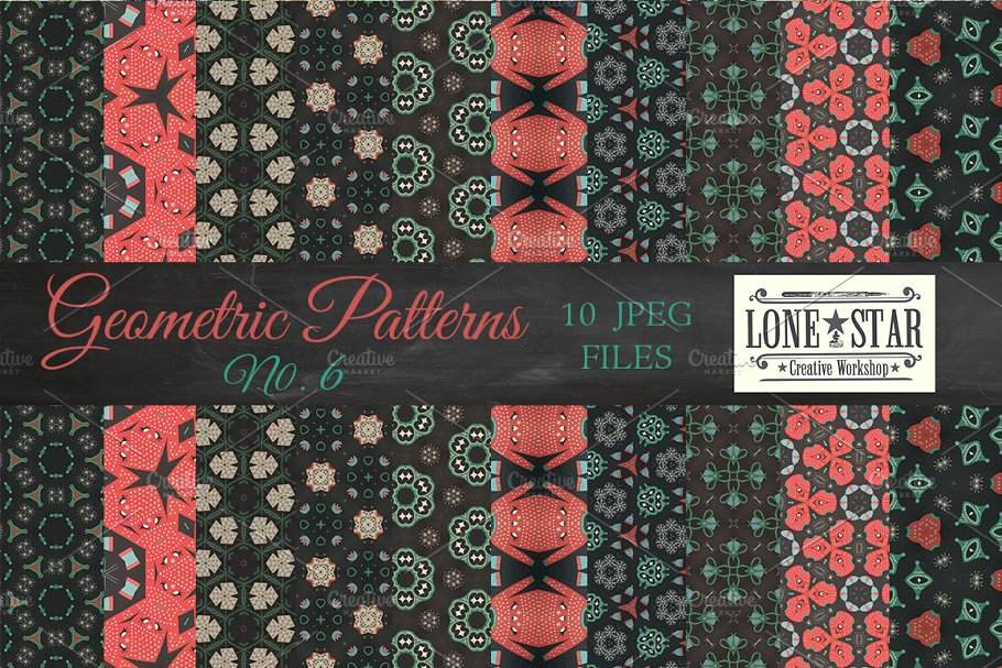 2f569d7b7 Ugly Christmas Sweater Patterns ~ Graphic Patterns ~ Creative Market