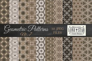 Grey & Gold Geometric Patterns