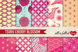 Pink Cherry Japanese Background