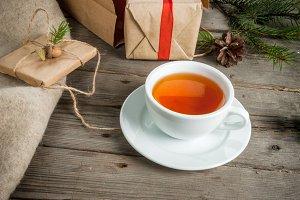 Christmas gifts and tea