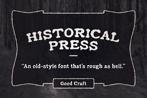 Historical Press font