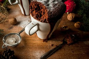 Christmas cake in cup