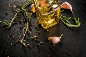 Flavored oil in jar