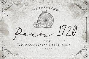 Paris 1920 Script & Sans