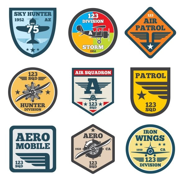 Army Jet Aviation Air Force Labels