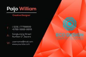 Hitam Orange Business Card