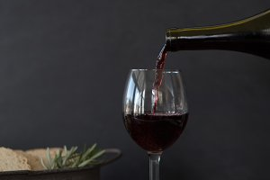 Wine Pour Styled Stock Photo