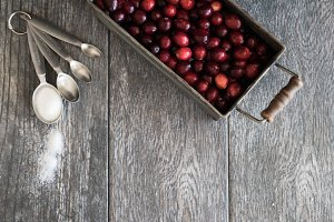 Cranberry Styled Stock Photo