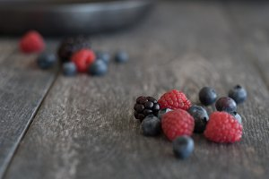 Mixed Berries Styled Stock Photo