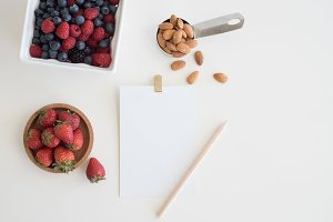 Nuts and Berries Recipe Stock Photo