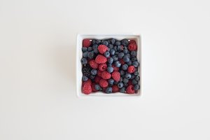 Berry Basket Styled Stock Photo