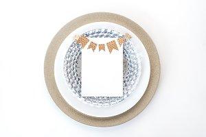 Menu / Invitation Mockup Stock Photo