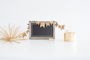 Chalkboard Announcement Stock Photo