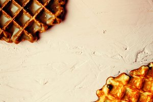 Waffles with Chocolate Icing