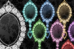 Diamond Mirrors Clipart
