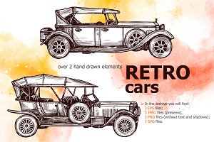 Retro Cars Sketch Set