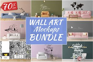 Wall Art Mockups BUNDLE V14