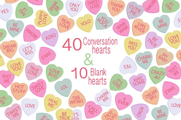 Valentine Clipart - Candy Hearts