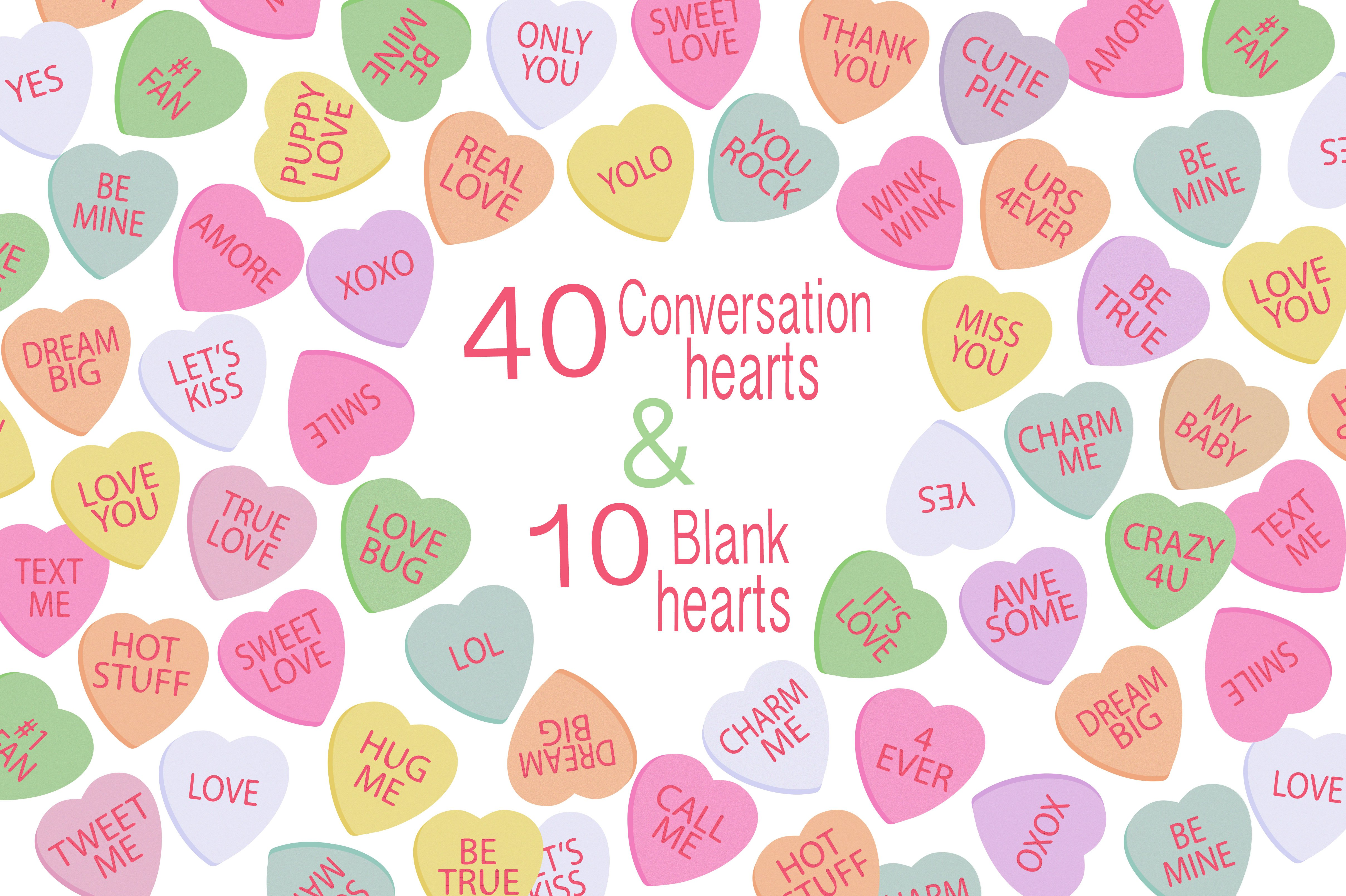Valentine Clipart - Candy Hearts ~ Illustrations ...
