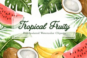 Tropical Fruity Watercolor Clipart