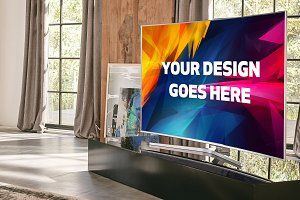 Curved Screen TV Mock-up#1
