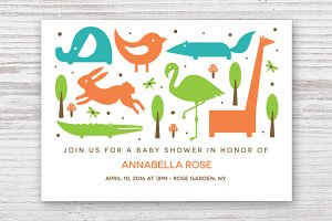 Baby Shower Template EPS & JPG