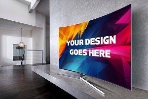 Curved Screen TV Mock-up#2