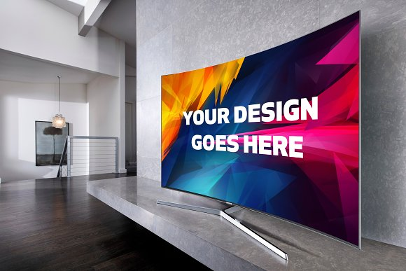 Free Curved Screen TV Mock-up#2