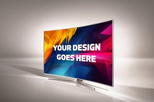 Curved Screen TV Mock-up#3