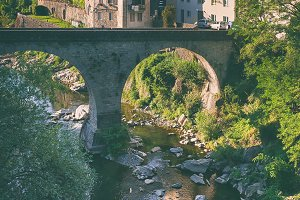 The bridge in the city of Italy