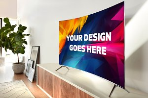 Curved Screen TV Mock-up#4