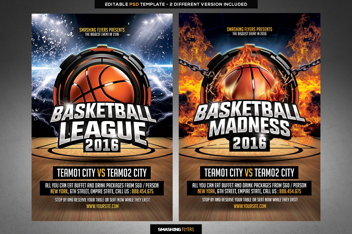 Basketball League Flyer Template ~ Flyer Templates ~ Creative Market