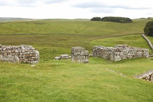 Roman fort at Hadrian wall