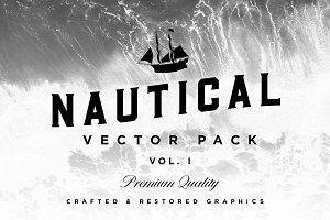 Nautical Vector Pack + Logo Template