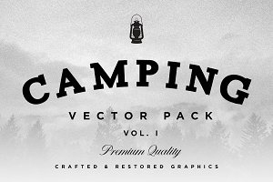 Camping & Hiking Gear Vector Pack