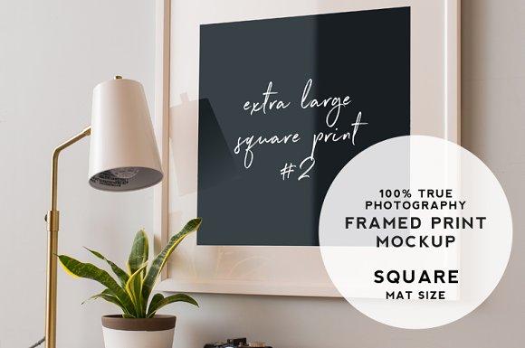 XL Square Print Mockup #2
