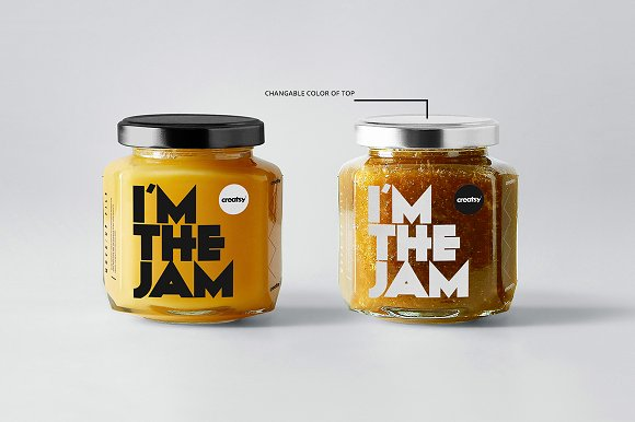 Jam Jar Mockups in Product Mockups - product preview 1