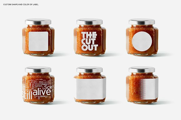 Jam Jar Mockups in Product Mockups - product preview 2