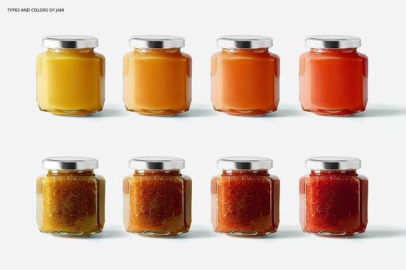 Jam Jar Mockups in Product Mockups - product preview 3