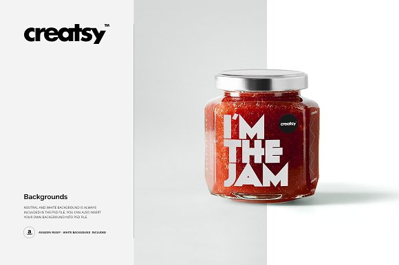 Jam Jar Mockups in Product Mockups - product preview 4