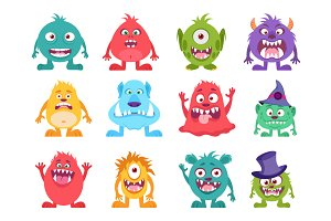 12 Monsters Illustrations