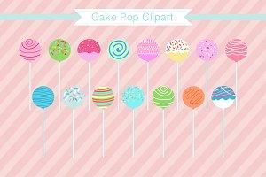 "Cake Pop Clipart ""Cake Pops"""
