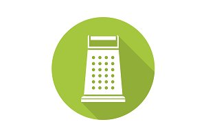 Kitchen grater icon. Vector